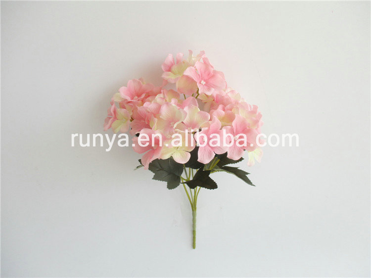 China factory direct wedding decoration wholesales beautiful artificial flowers hydrangea bushes