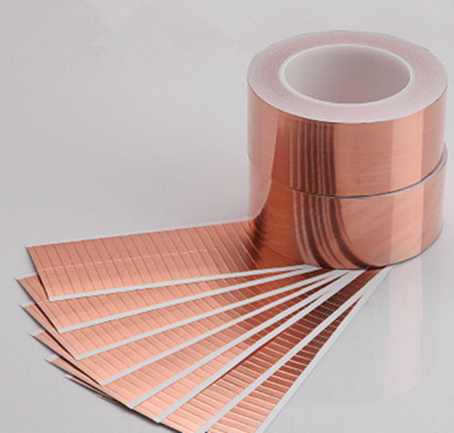 Manufacturer die-cutting thin conductive self-adhesion copper foil sheet for PCB conductor