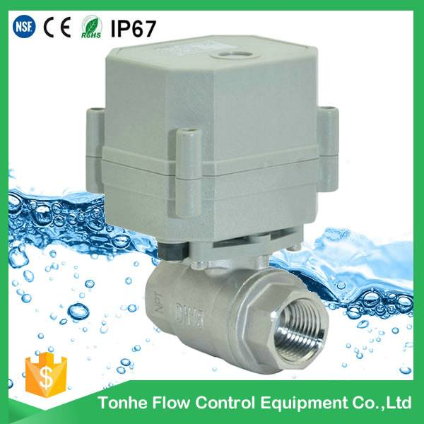 DN15 230V NSF61 Valve stainless steel SS304 motorized ball valves