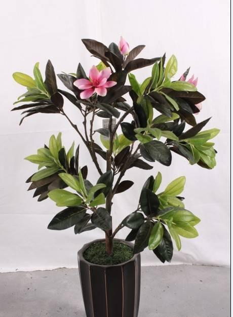 Artificial green plant Magnolia
