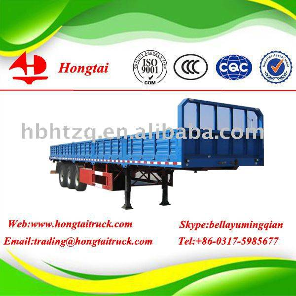 3 axles fence semi trailer