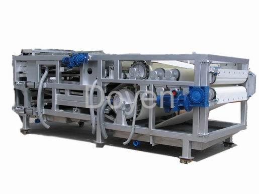 Horizontal belt filter press