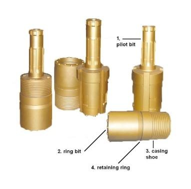 High pressure Symmetric Overburden Drilling Bit System