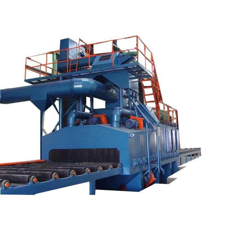 Q69 Steel Plate/sheet roller conveyor shot blast machine