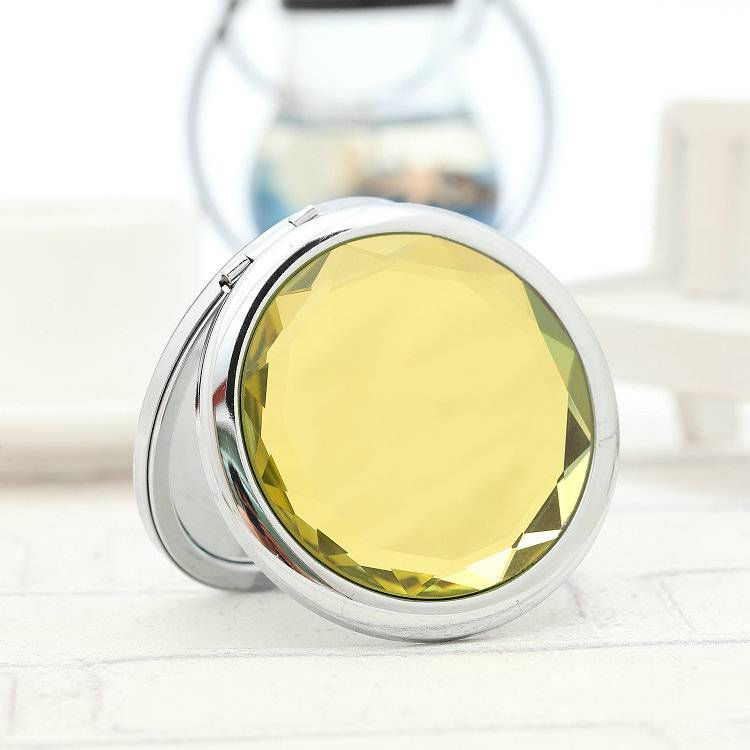 Solid Crystal Compact Mirror
