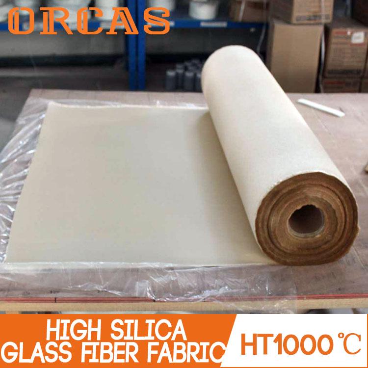 High temperature insulation fireproof high silica glass fiber cloth