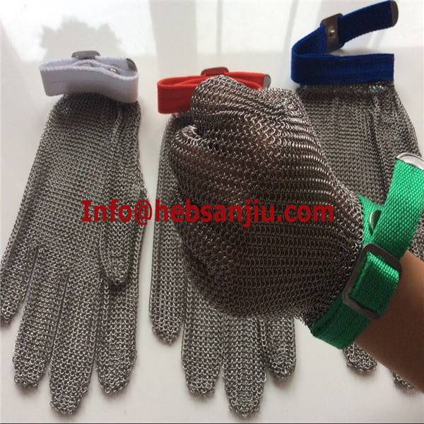 Cut resistant glove/Anti cut glove/Chain mail glove/Metal mesh glove/Ring mesh glove/Stainless steel