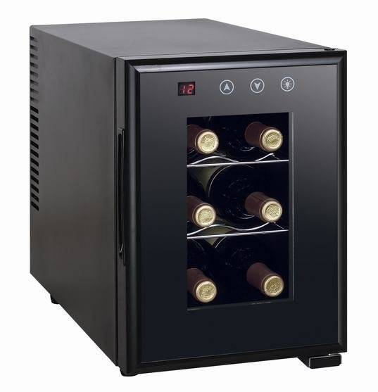6 bottles thermoelectric wine cooler