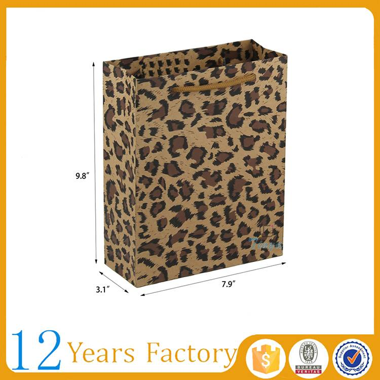 custom creative designer leopard grocery bags
