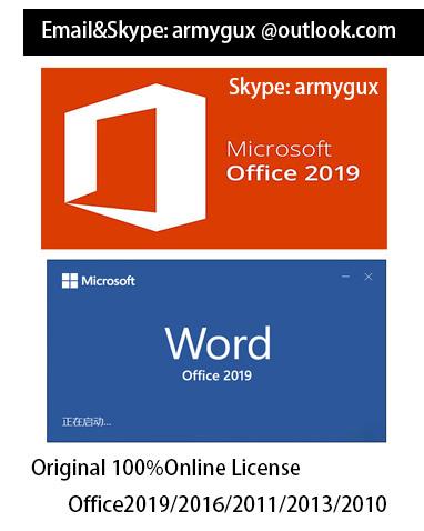 Genuine Original Office 2019 Pro Plus Coa Sticker 100% Online License Product