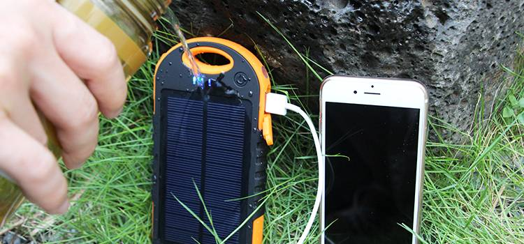 portable 8000mah solar charger