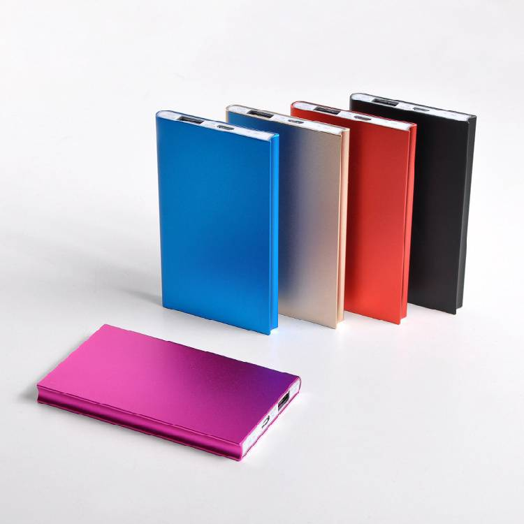 Polymer Battery Cell Avitation Aluminum Portable Power Charger Power Bank