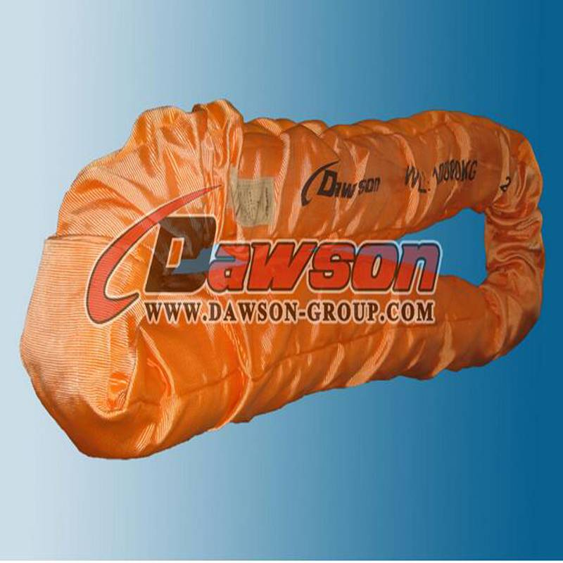 EN1492-2 120t heavy duty polyester endless round lifting sling