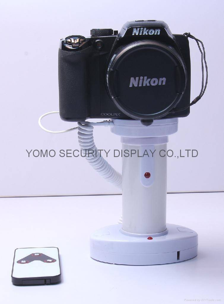 Camera Secure Display Stand with Alarm Feature