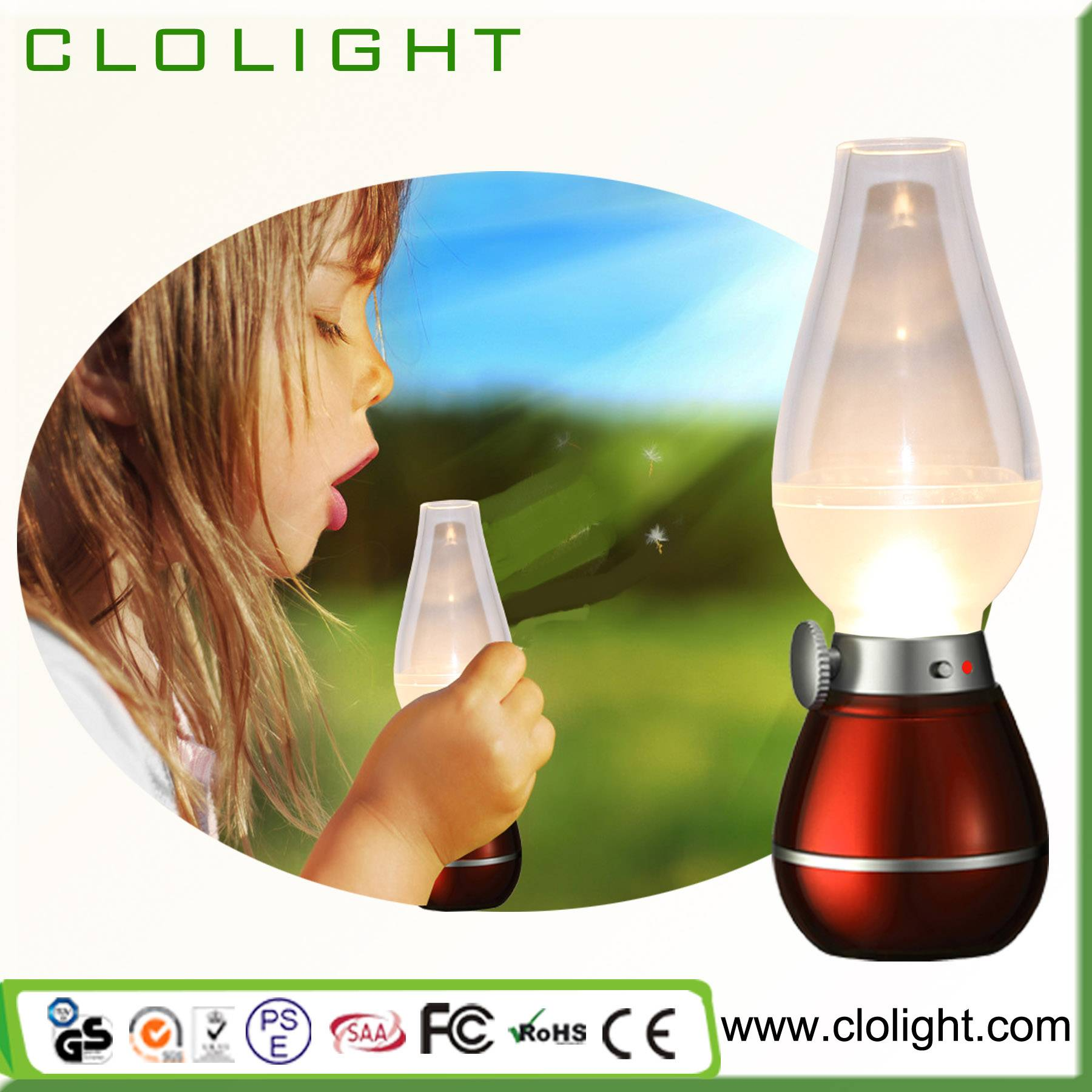 blow led lamp led oil USB kerosene lamp LED kerosene lamp