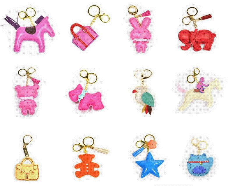 Customized pu key chain