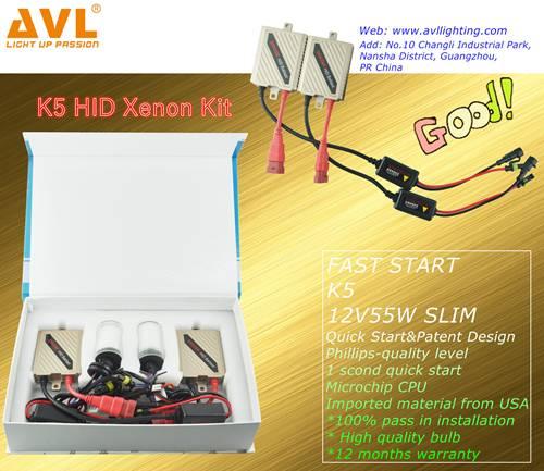 K5 HID Xenon Kit, 2*55W Fast Start Ballast+ 2*55W HID Xenon Bulb