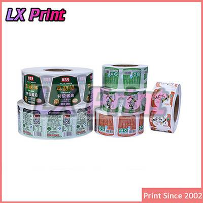 2015 Custom Full Color Design Waterproof Food Label Sticker Printing Roll Canned Food Label