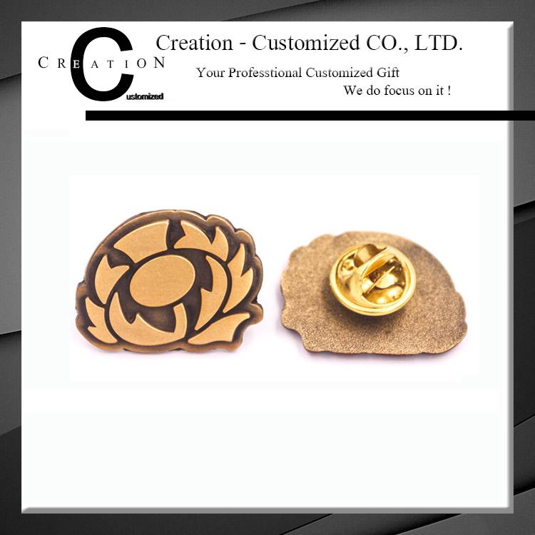 Custom Lion Shape Custom Metal Pin Bagde for Decoration
