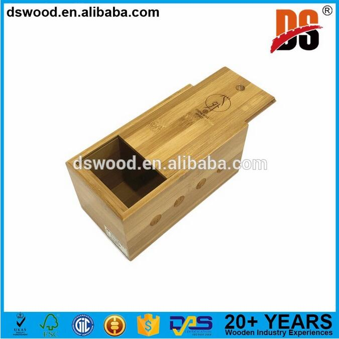 Bamboo wood wine box for sale