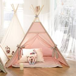 KID'S TENT_pink check