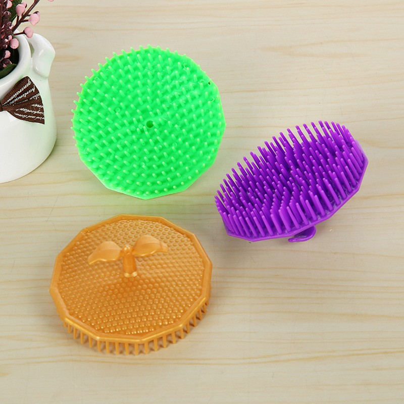 Hot Sell Silicone Shampoo Scalp Shower Body Washing Hair Massage Massager Brush Comb