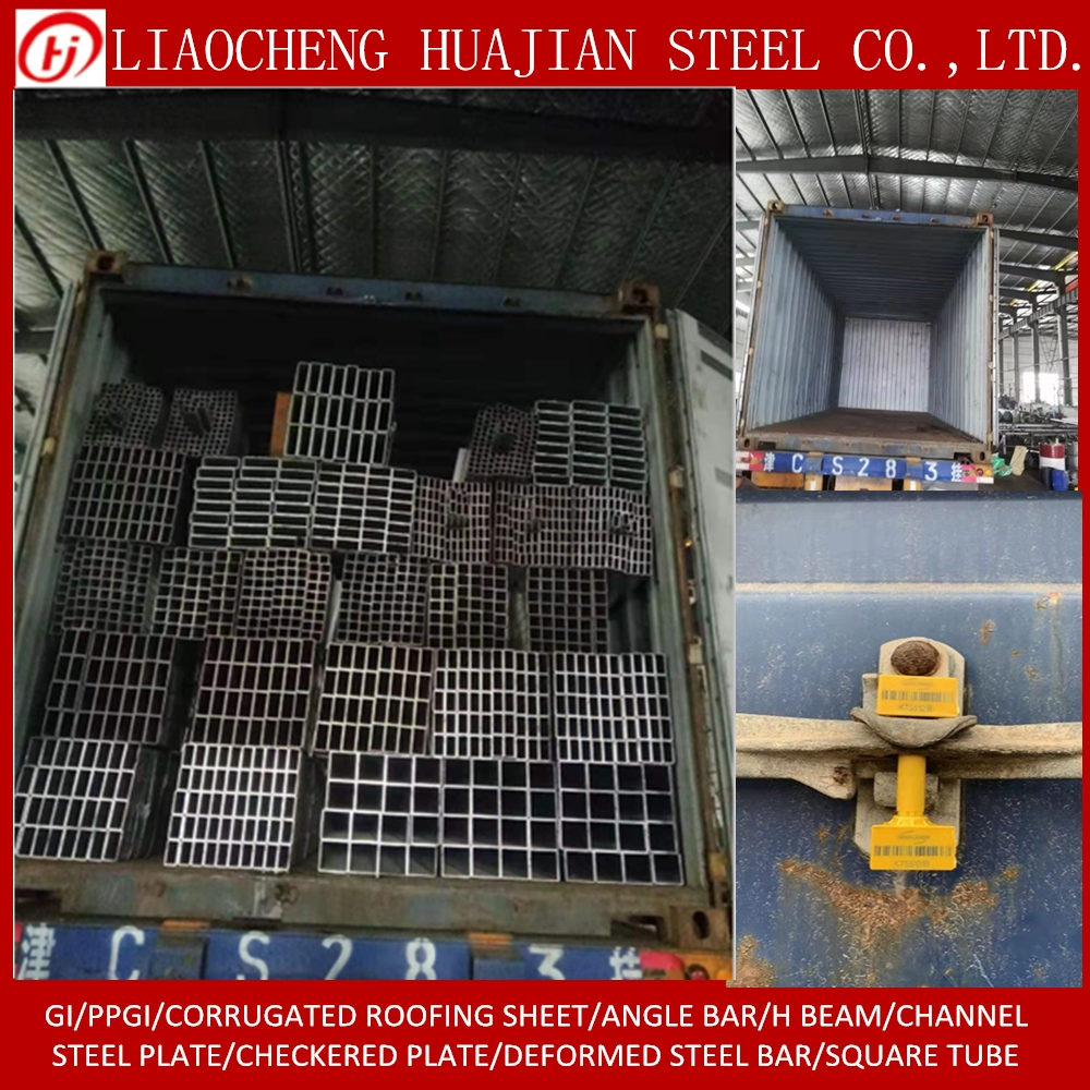 Hollow section Galvanized Square Steel Pipes on Stock