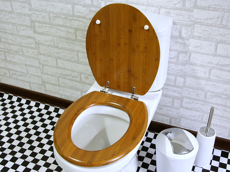 Eco-Friendly and Comfortable Bamboo Wood Toilet Seat Cover Set