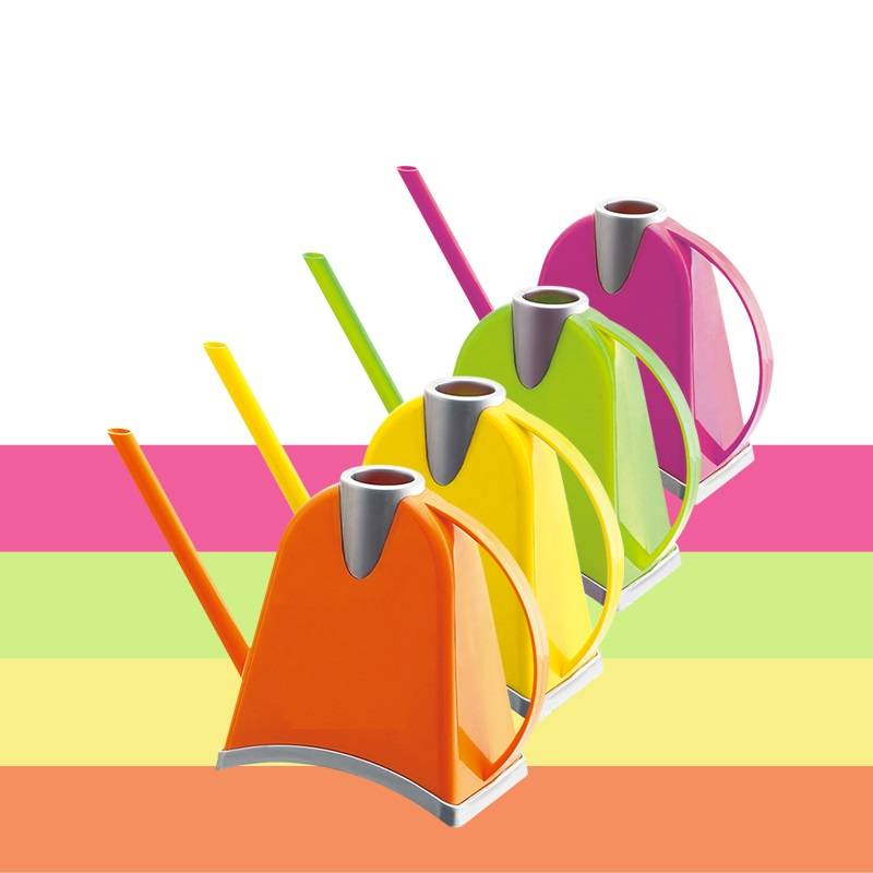 Colorful pudding watering can