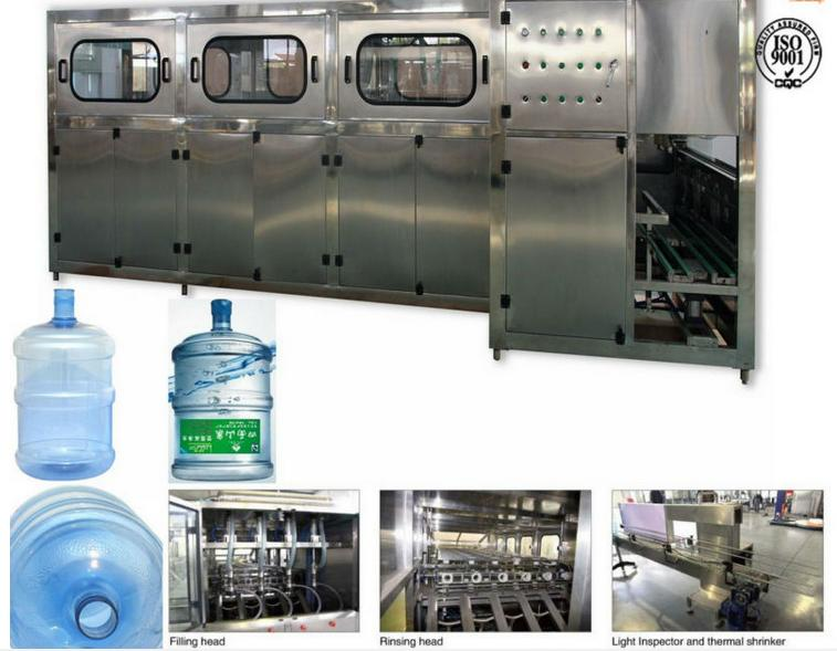 Automatic 3~5 gallon barrel water filling line