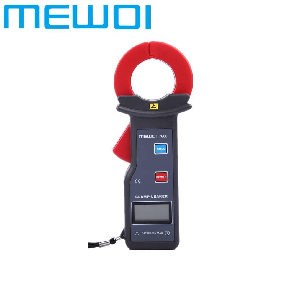 MEWOI7600-35mm×40mm,AC 0mA~600A High Accuracy AC Clamp Leaker