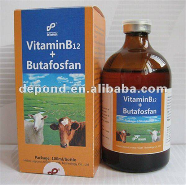 Veterinary medicine Vitamin B12 + Butafosfan nutritional injection