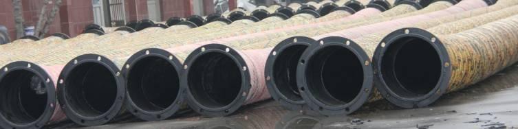 rubber hose, dredging hose, flange end rubber hose, sand dredging hose, flexible rubber hose, dredge