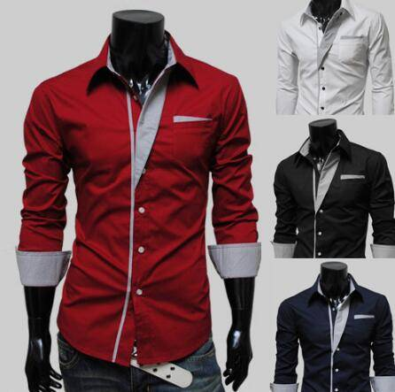 talian style mens shirts man slim fit fashion designs shirts