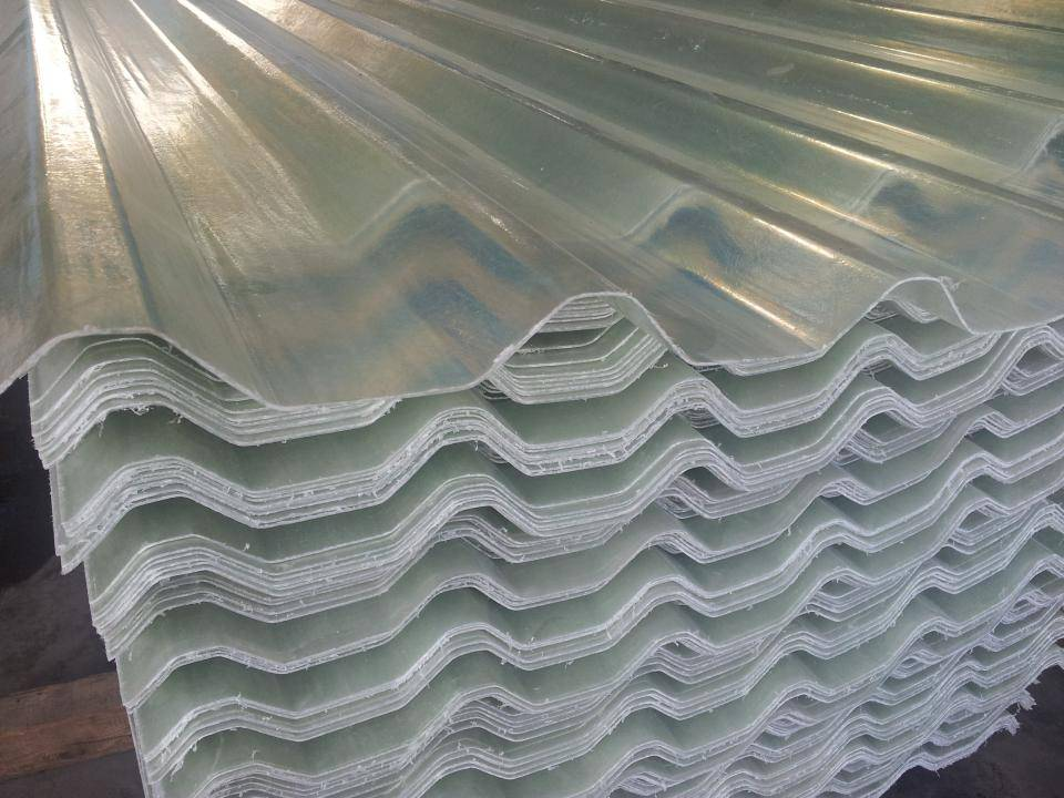 Glass fibre reinforced plastic sheets