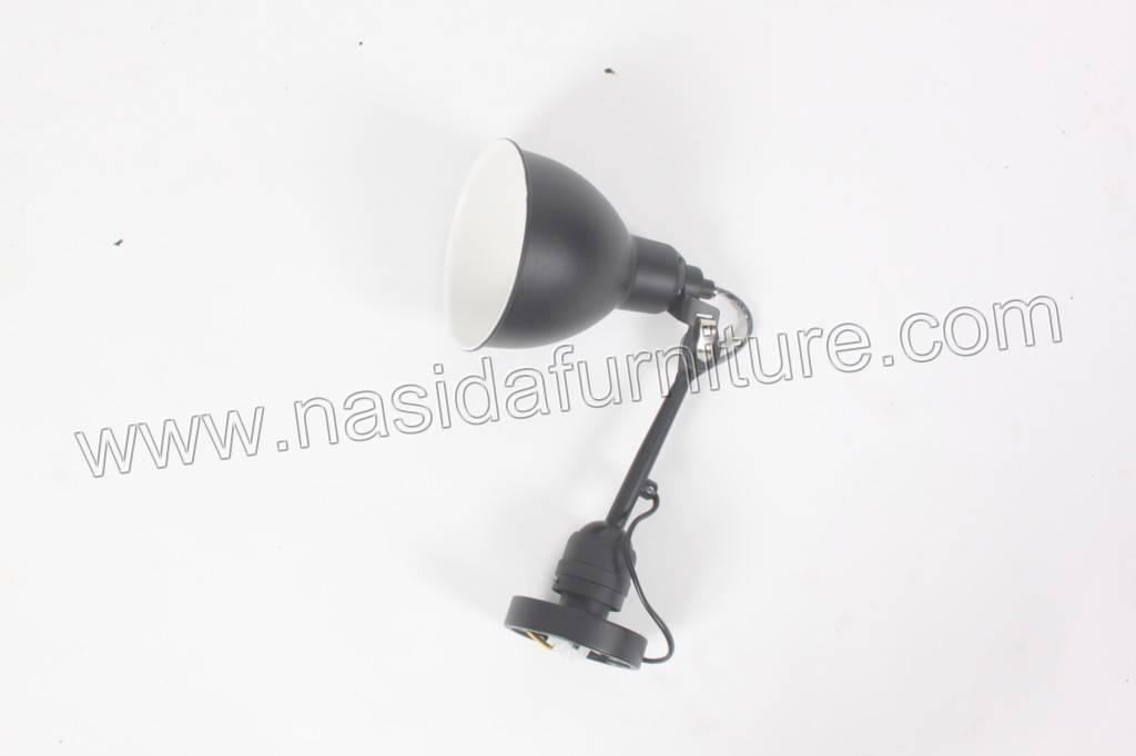 LP319 W-C black Bernard Albin Gras Model 203 Wall Lamp