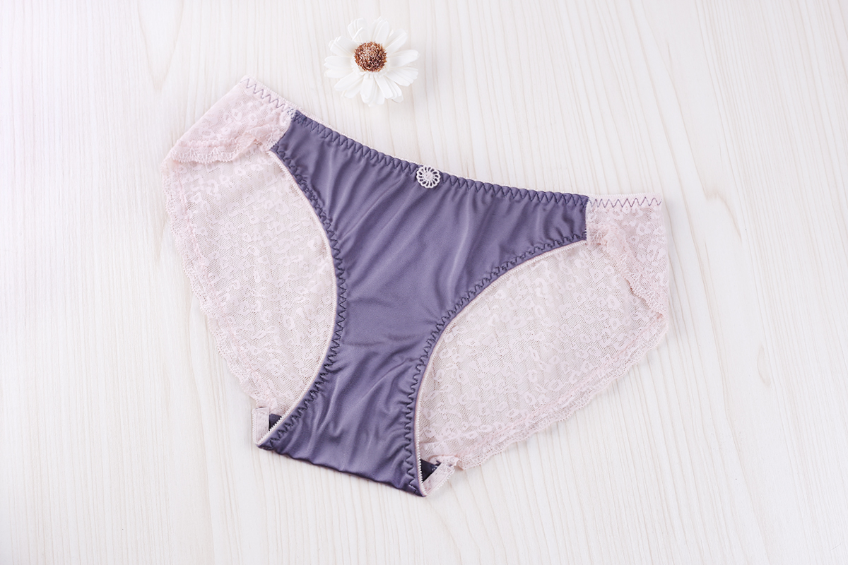 Fashion Sexy Back Leopard Print Polyester Underwear Satin Seamless Hips Up for Lady