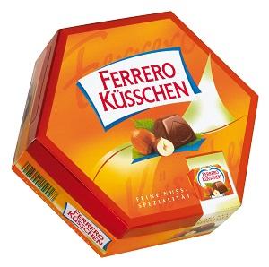 Ferrero Küsschen T20, 178g. Kinder Bueno T2, 43g. Kinder Schoko-Bons, 46g