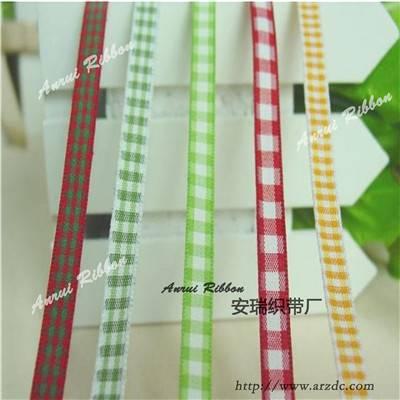 Tartan ribbon 6mm