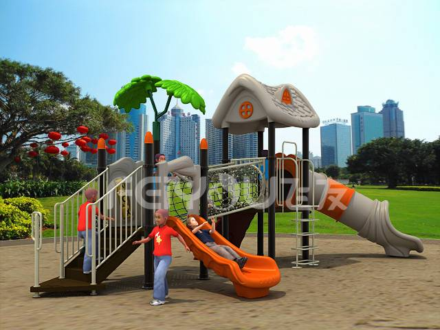 China children plastic playground equipment funny slide