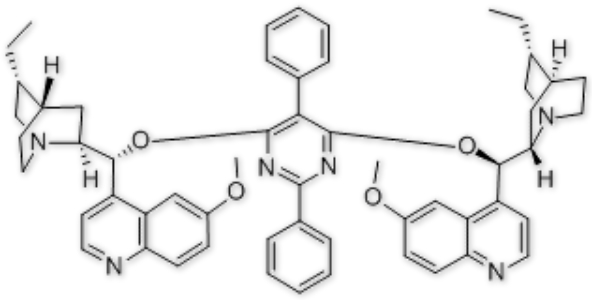 Hydroquinine 2,5-diphenyl-4,6-pyrimidinediyl diether