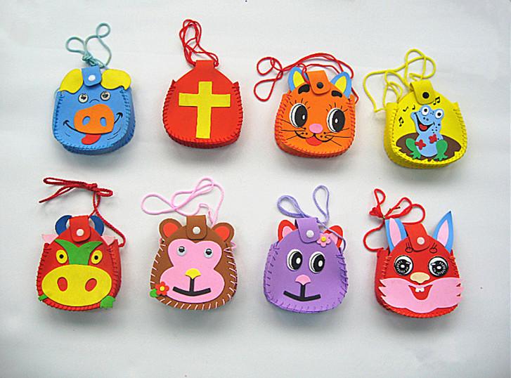 Hand-make cartoon eco bag DIY for promotion