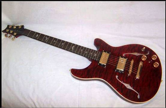 Semi-Hollow Maple Electric Guitar