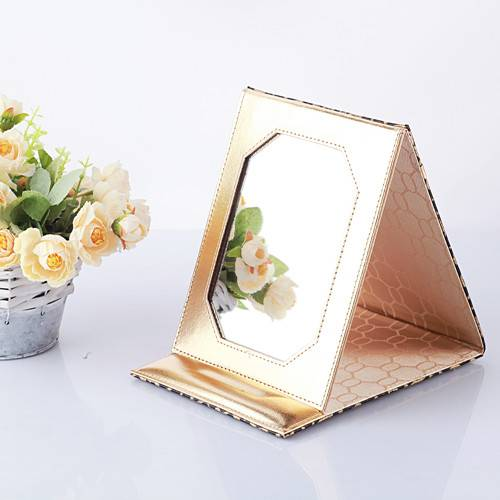 PU Makeup Mirror Table Mirror Promotional Gift