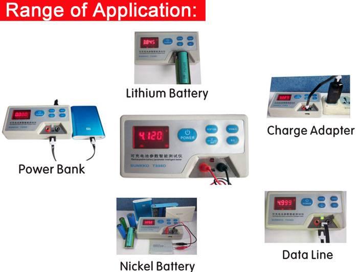 SUNKKO 338D Battery Multi-function Interlligent Tester