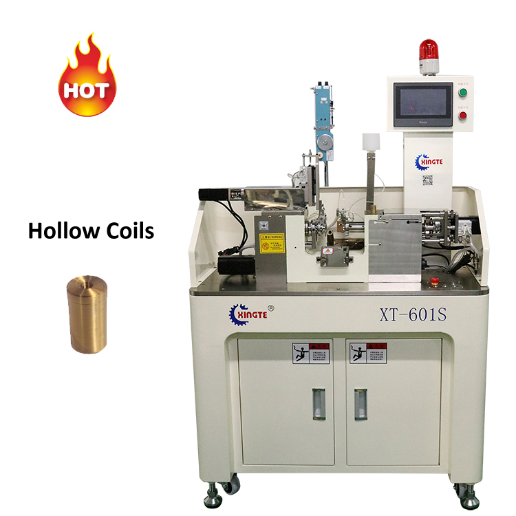 Automatic bobbin winder coil winding machine with soldering and dispensing function