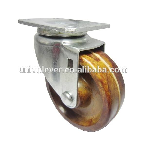 4 inch Plate swivel light caster of 300 degree C series