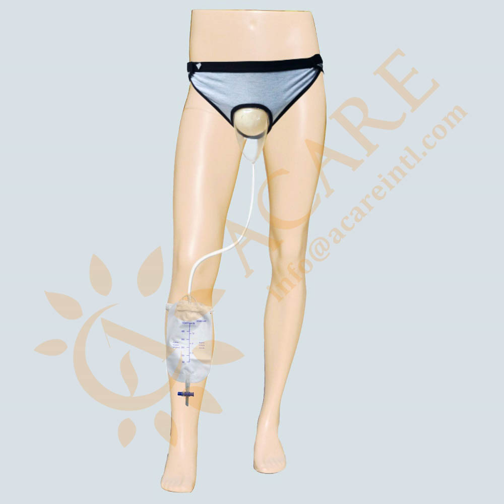 Medical underpants with urinary leg bag | urinary incontinence briefs