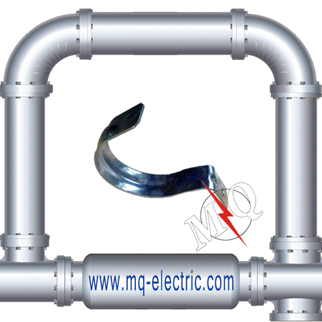 High Quality Zinc Plated Steel Rigid Strap for conduit clamp