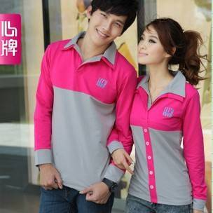 Couple long sleeve T Shirt 2011 new arrival autumn clothing Corea L190